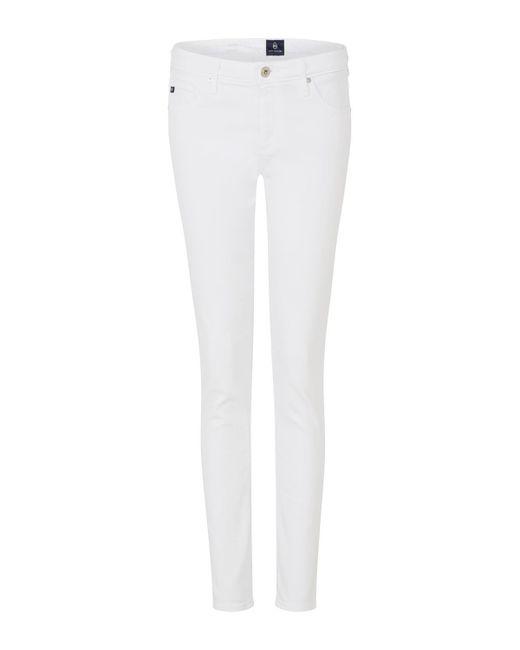 AG Jeans - Prima Cigarette Jean In White - Lyst