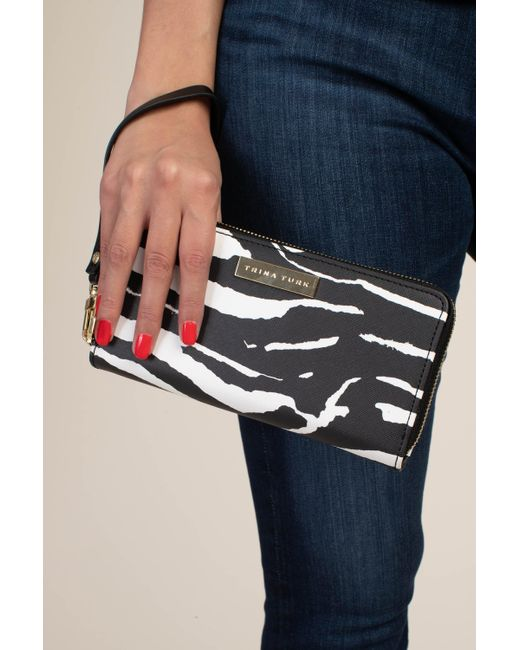 Trina Turk Zebra Wristlet - Black/whitewash / O/s