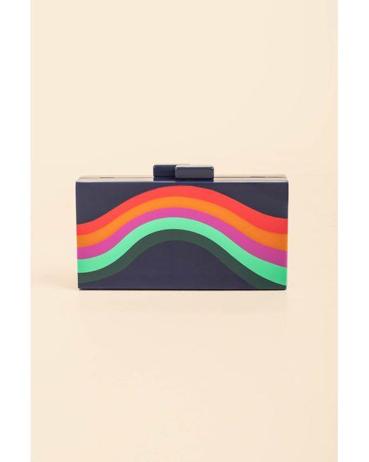 Trina Turk Multicolor Cosmo Reef Rainbow Box Clutch
