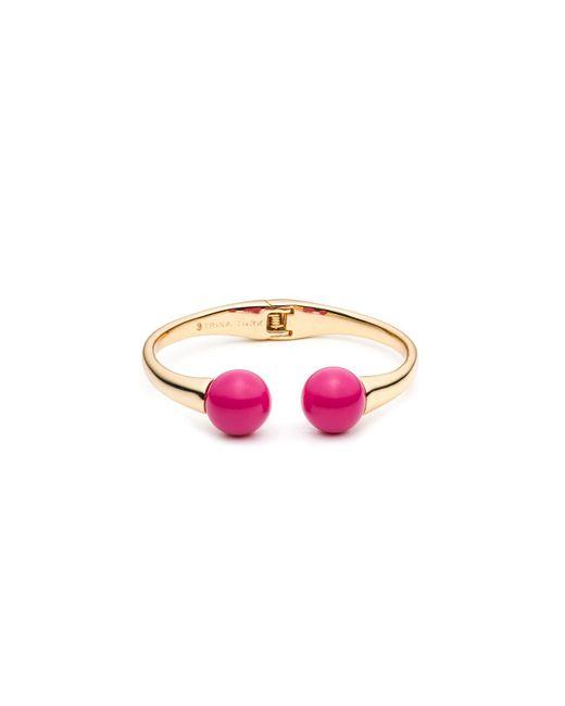 Trina Turk - Pink Beads In Bloom Hinged Cuff - Lyst