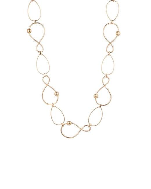 "Trina Turk Metallic 36"" Twisted Link Station Necklace"