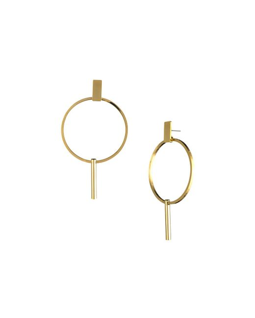 Trina Turk - Metallic Golden State Hoop Drop Earring - Lyst