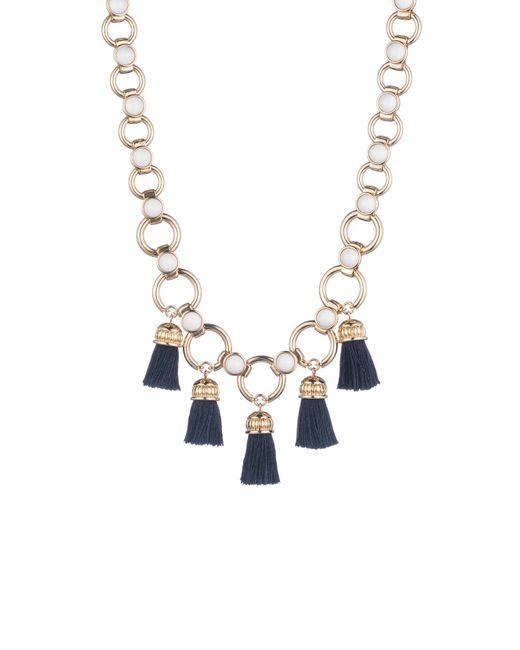 Trina Turk - Multicolor Beads In Bloom Tassel Link Necklace - Lyst