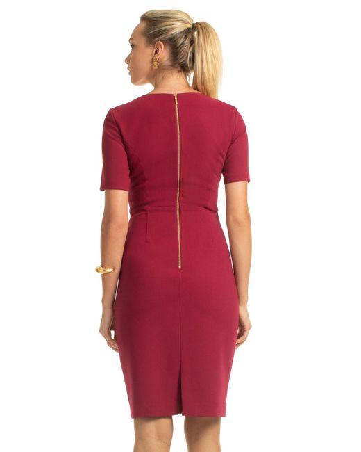 73baf7ef ... Trina Turk - Red Diamante Dress - Lyst ...