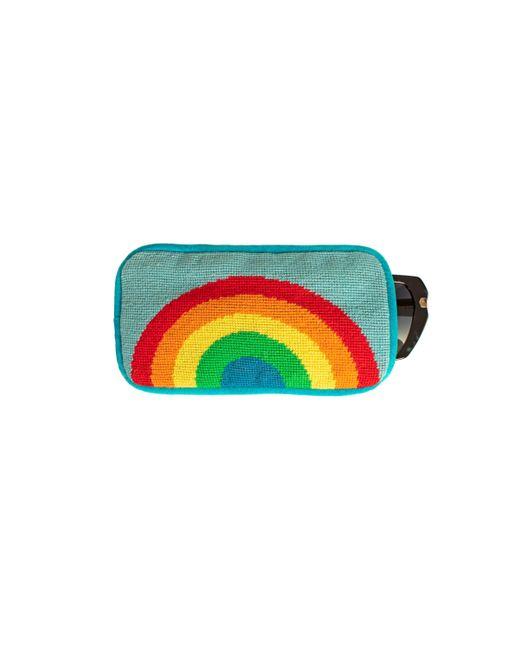 Trina Turk Multicolor Rainbow Eyeglass Case