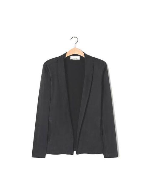 American Vintage Black Carbon Ipiwood Womens Blazer for men