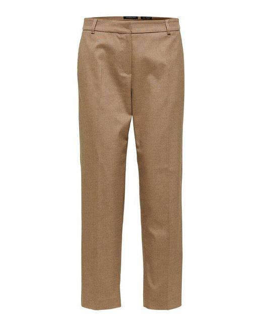 Pantalone corto Slfria MW Camel di SELECTED in Multicolor