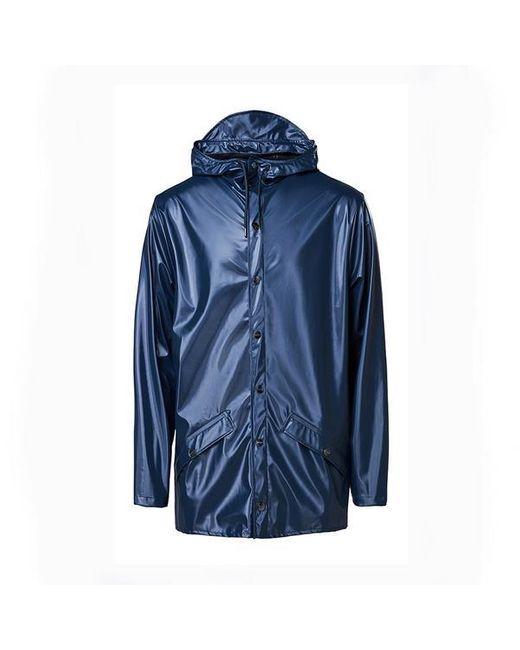 Chaqueta Corta Azul Brillante Rains de hombre de color Blue