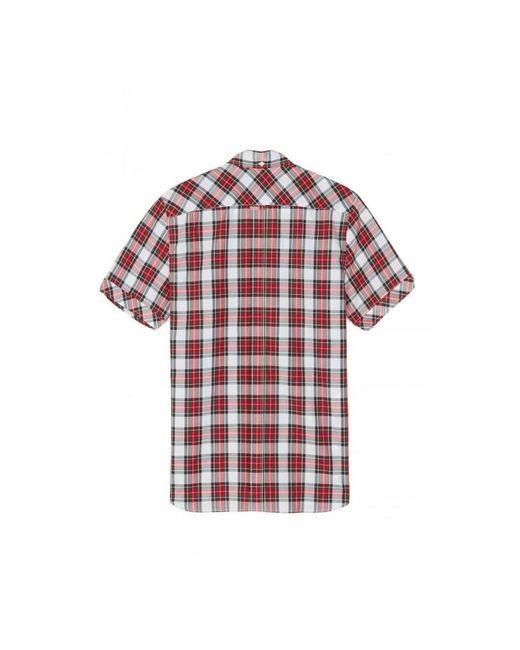 Camisa de manga corta de tartán Reissues M7100 100 Fred Perry de hombre de color White
