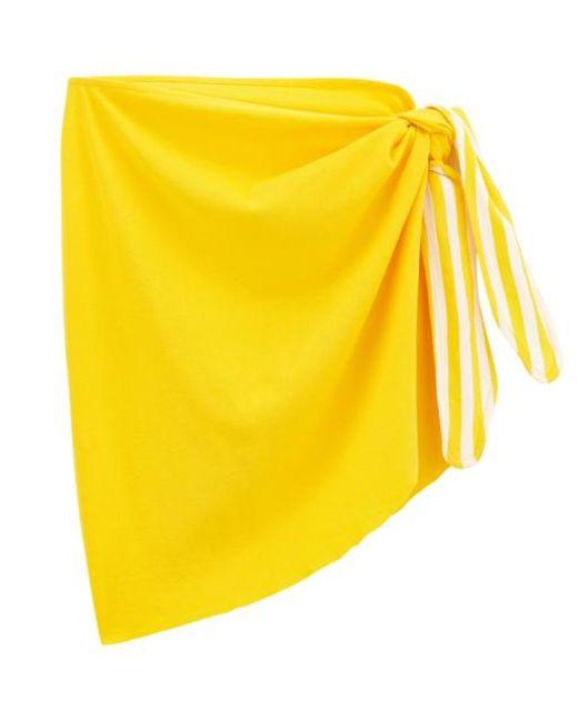 Petit Bateau Yellow Womens Sarong
