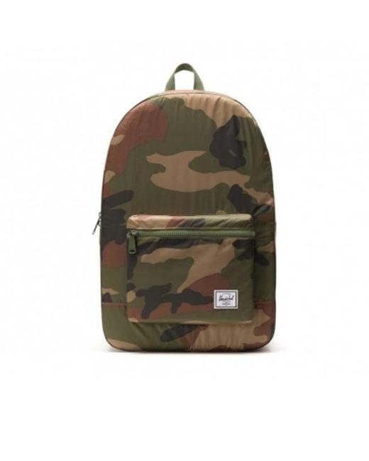 Packable Daypack Woodland Camo di Herschel Supply Co. in Green da Uomo