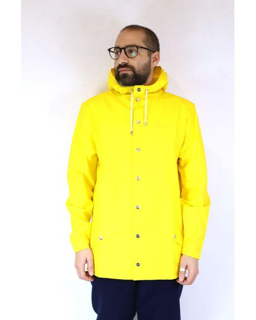 Giacca impermeabile gialla di Rains in Yellow da Uomo