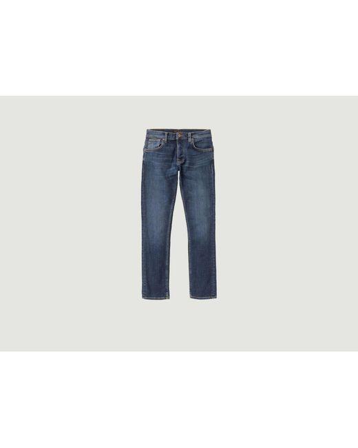 Jean Grim Tim di Nudie Jeans in Blue da Uomo