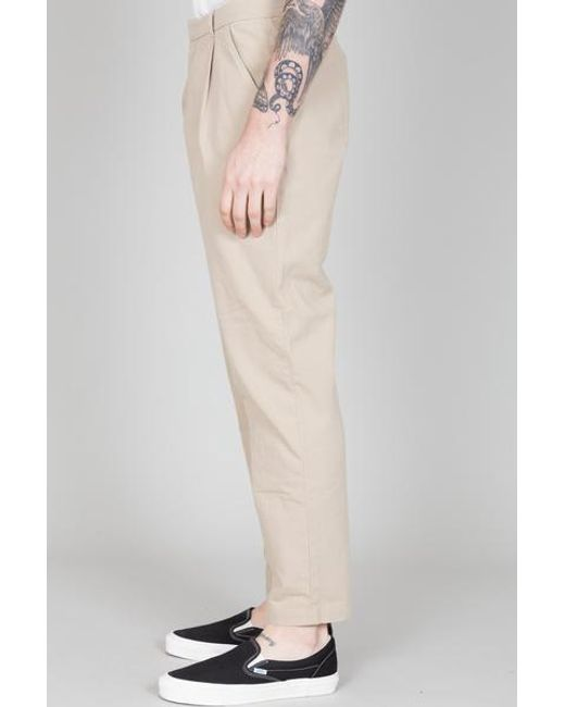 Pantaloni assemblati Sand Ultimo pezzo di Folk in Natural da Uomo