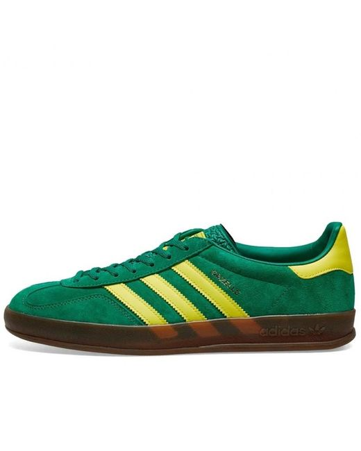 adidas Bold Green and Bright Yellow EE5736 Gazelle Shoes de hombre de color verde