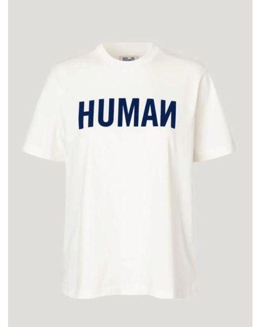 Camiseta Jalo Human Marshmallow Human Baum und Pferdgarten de color White