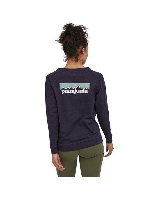 Camiseta Ws L S Pastel P 6 Logo Responsibili Piton Purple Patagonia de color Blue