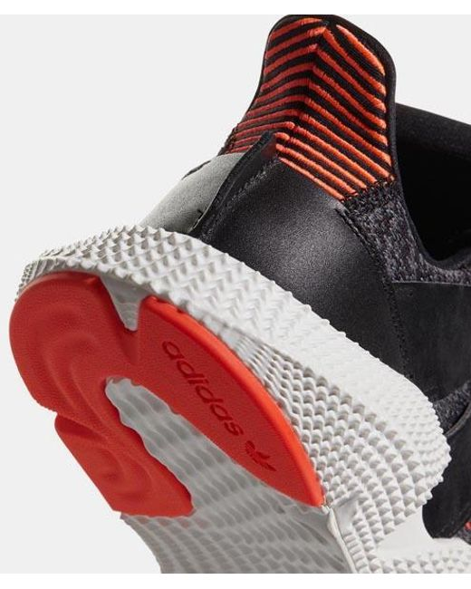 080c5516 ... Adidas - Core Black And Solar Red Leather Prophere Mens Originals Shoes  for Men - Lyst ...