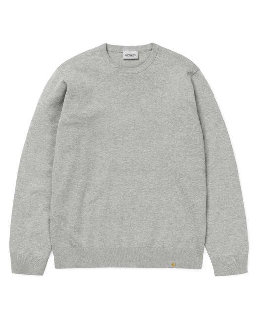 Carhartt Gray Playoff Grey Heather Cotton Knit Sweater for men