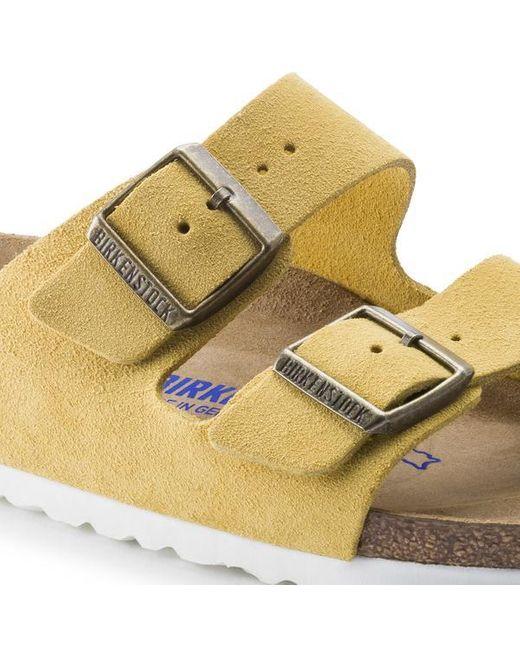 Birkenstock Women's Metallic Arizona Ochre Suede Sandals