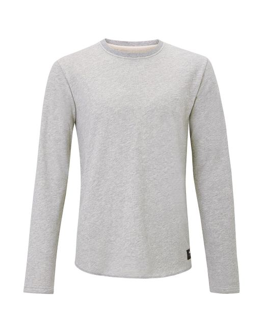 Edwin Gray Grey Cotton Terry Sweater for men