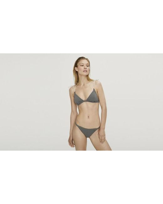 Bikini De Rayas Grises Bralette Uma LoveStories de color Gray