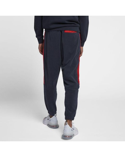 Joggers con riga laterale blu navy 929126-451 di Nike in Blue da Uomo