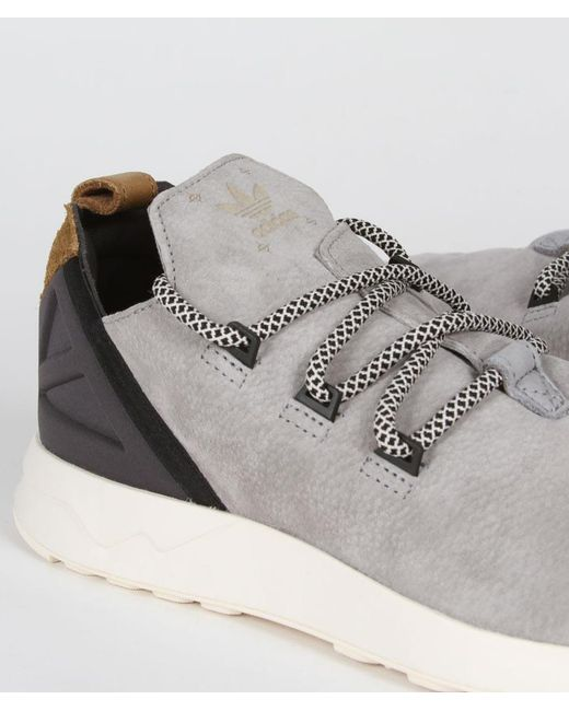 reputable site d85d2 8f1ca Men's Size 11 Wolf Gray And Tan Leather Originals Zx Flux Adv X Shoes