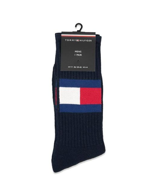 Calzini Flag Navy di Tommy Hilfiger in Blue