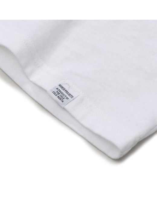 Norse Projects Weißes Niels Standard T-Shirt in White für Herren