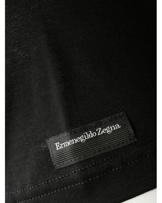 Maglietta nera di Ermenegildo Zegna in Black da Uomo