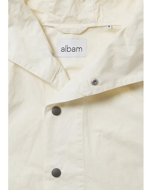 b5ddd7dfc9c7d ... Albam - White Johnson Smock Ecru for Men - Lyst ...