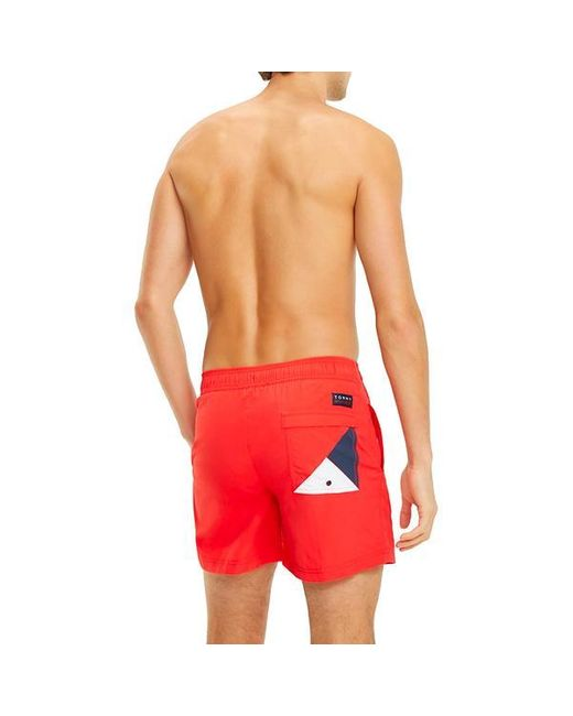 Tommy Hilfiger Mens Icon Trunks Red