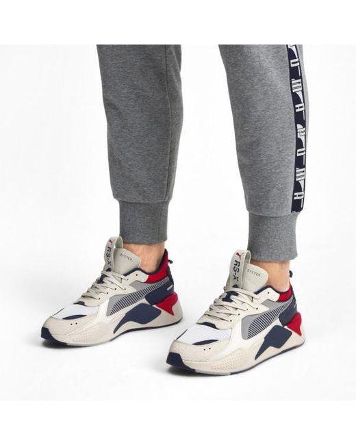 Whisper White Peacoat Rs X Hard Drive Sneakers