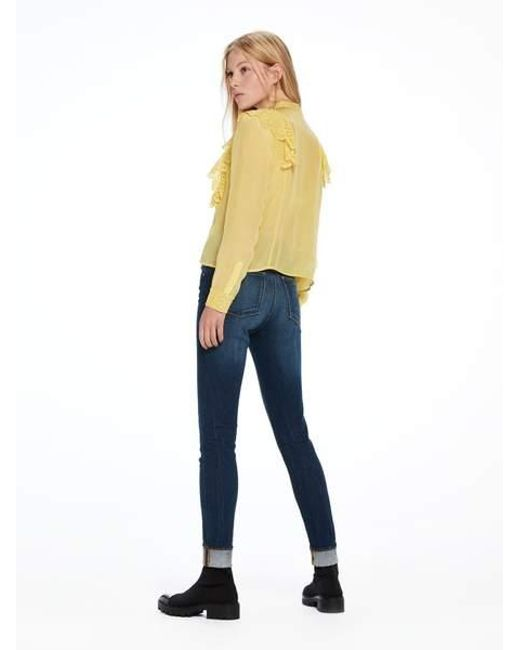 Dear Blauw Scotch /& Soda Womens Haut High Rise Skinny Jeans