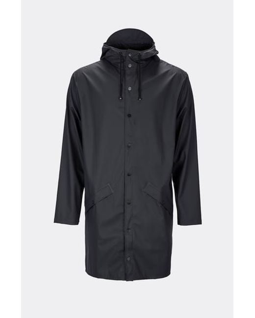 Chaqueta 1202 Long Jacket Black Unisex Rains de hombre