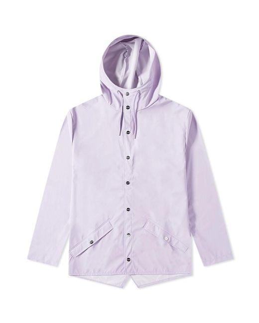 Giacca classica in poliuretano lavanda e poliestere di Rains in Purple da Uomo