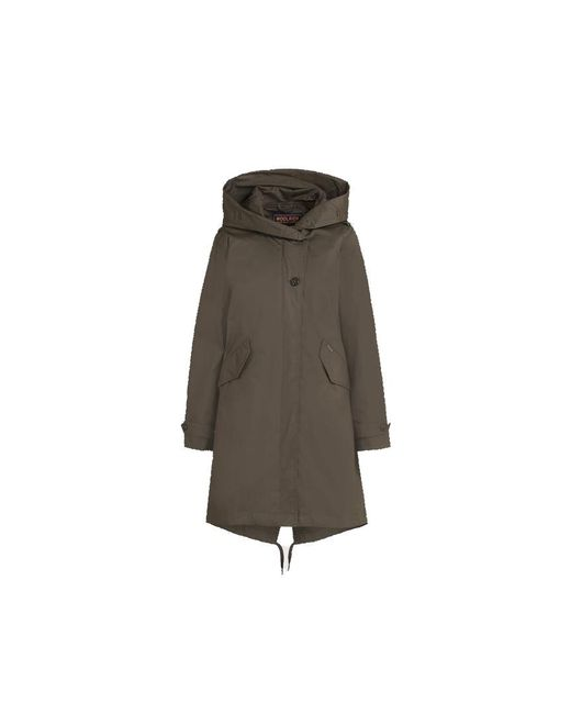 Woolrich Multicolor Military Olive Cotton Literary Rex Parka