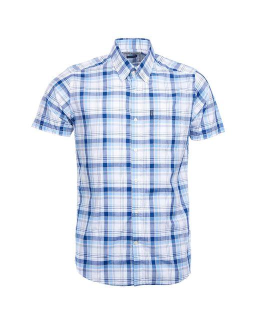 Camisa Madras 3 Tailored Azul Barbour de hombre de color Blue