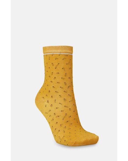 Becksöndergaard Darsi Shiny Dots Socks In Golden Yellow