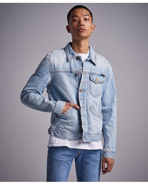 Nudie Jeans Blue Jeans Co Tommy Epic Wash Denim Jacket for men
