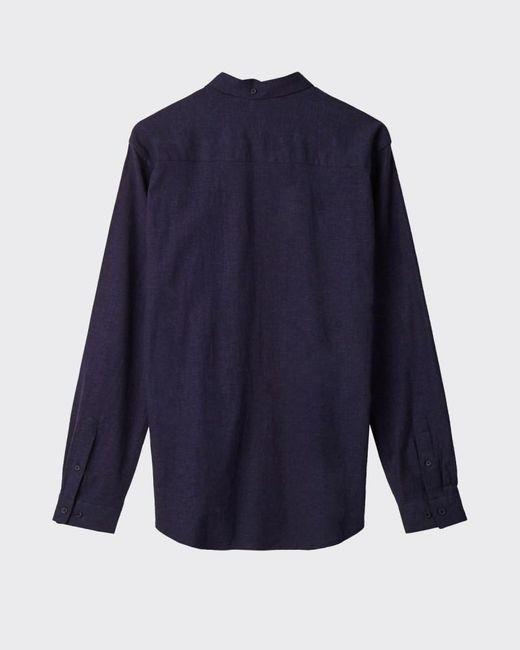 Camicia Indigo Blue Jay 2.0 3519 di Minimum da Uomo