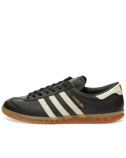Hamburg Core Noir, Blanc & Rouge Lush Chaussures Cuir adidas pour ...