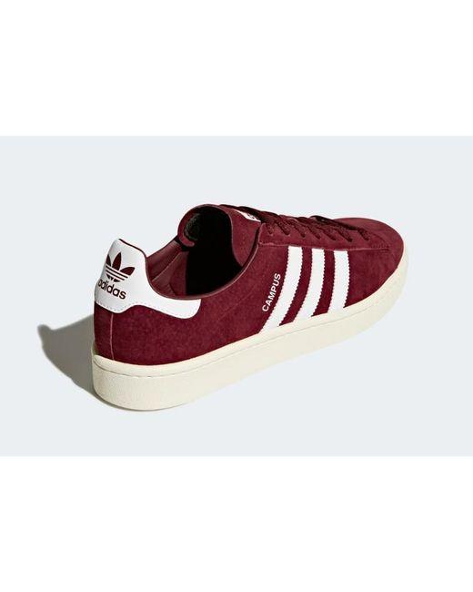 Chaussures Campus adidas pour homme en coloris Rouge - Lyst