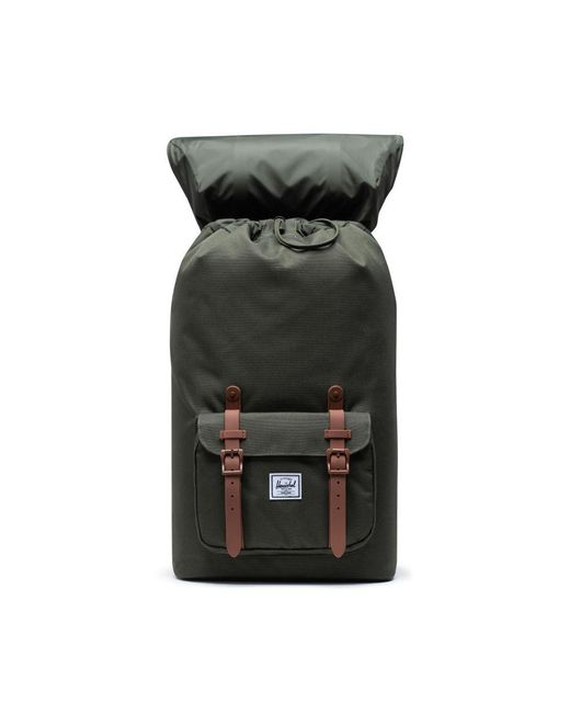 Herschel Supply Co. Green Dark Olive And Saddle Brown 10014-03011 Little America Backpack for men
