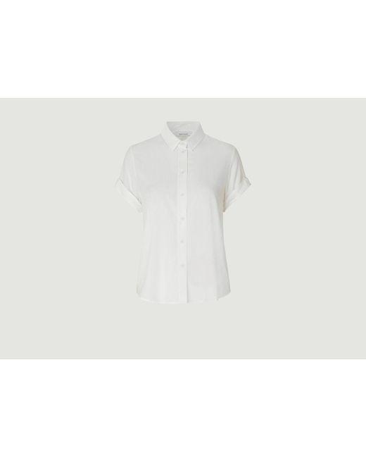 Camisa Majan Blanca Samsøe & Samsøe de hombre de color White