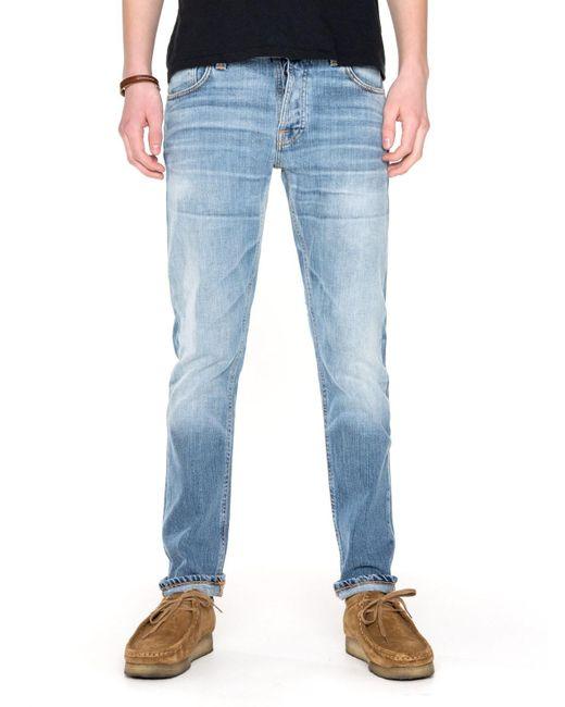 31 Jeans Dude Dan in cotone organico Orange Soul 112376L32 di Nudie Jeans in Blue da Uomo