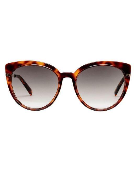 Lunettes de soleil promiscuous tortoise Cateye Le Specs en coloris Brown