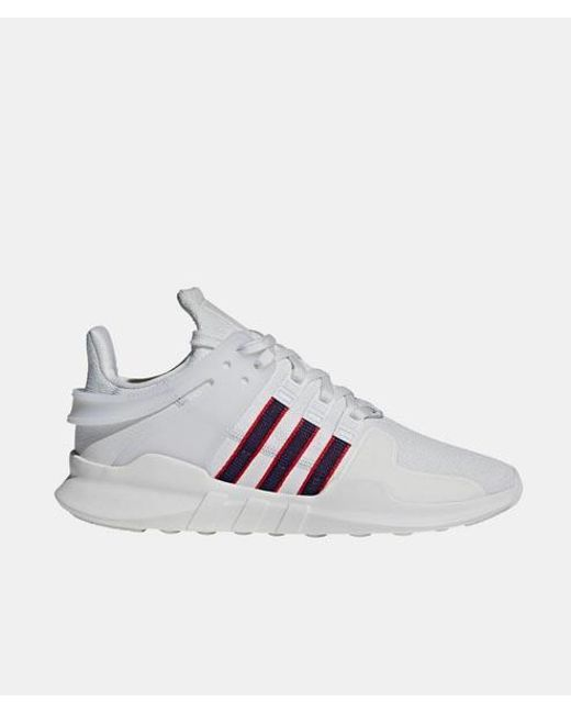 new product 76a3c 37848 Men's White And Navy Leather Originals Eqt Support Adv Shoes