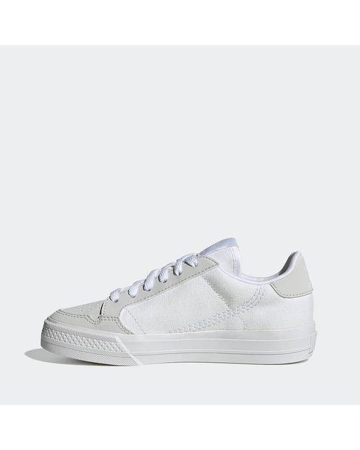 Chaussures blanches Continental Vulc C Adidas pour homme en coloris White